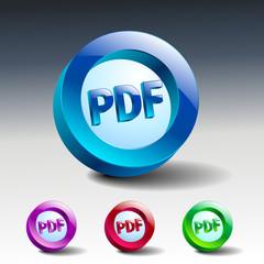 pdf icon button internet document file
