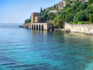 Alanya fortress and the sea