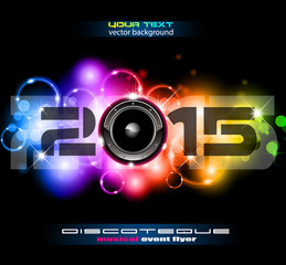 2015 Happy New Year Party background