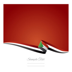 Abstract color background Sudanese flag vector