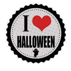 I love Halloween sticker or stamp