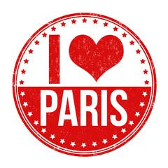 I love Paris stamp