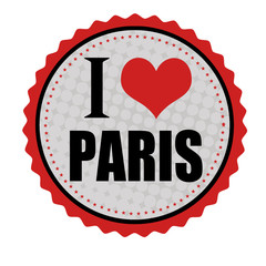 I love Paris sticker or stamp