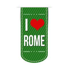 I love Rome banner design