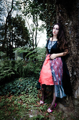 Vimpire girl near tree