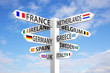 canvas print picture - Europe Signpost