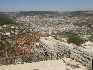 Vista desde el castillo de Ajloun, Jordania