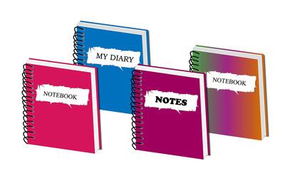 Cuadernos de colores variados 1