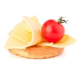 open healthy sandwich