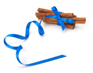 Festive wrapped cinnamon sticks