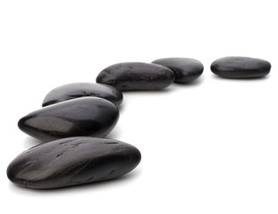Zen pebbles path. Spa and healthcare concept.