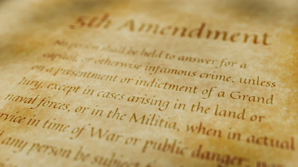 Historic Document 5th Amendment