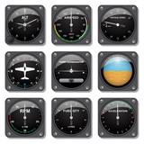 Aircraft gauges set