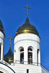 Bell tower of Cathedral of Christ the Savior. Kaliningrad, Russi