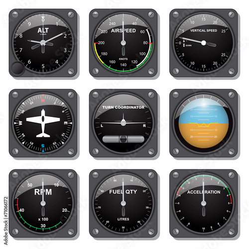 Aircraft gauges set - 71066172