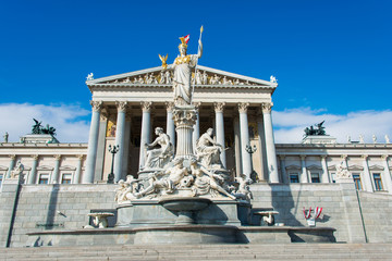 Vienna - OCTOBER 13: Austrian Parliament on October 13 in Vienna