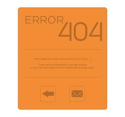 Orange error 404 with nice message