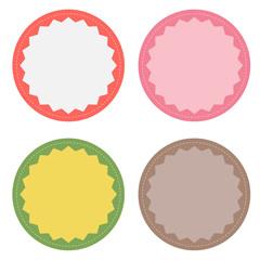 Set of 4 blank badges