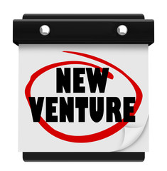 New Venture Wall Calendar Launch Reminder Business Startup