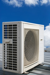 Air conditioner and blue sky