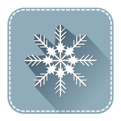Flat avatar with Christmas snowflake