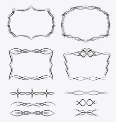Frames borders design set
