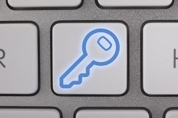 Key Icon on Computer Keyboard