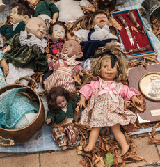 Characteristic vintage dolls