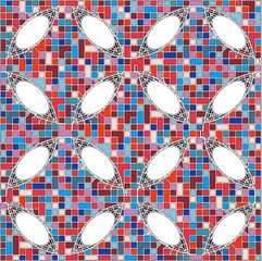 Vintage Hipster Mosaic Geometric Pattern Background Vector