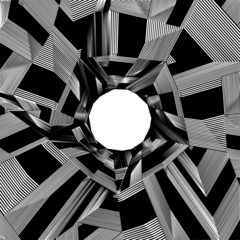 Black And White Pentagon Pattern Vector