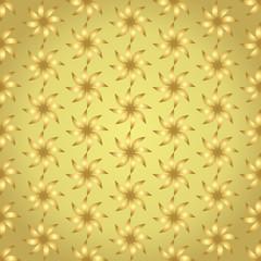 Gold Turbine Seamless Pattern on Pastel Background
