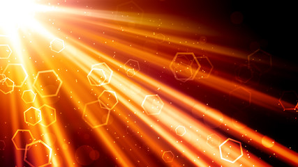 Golden Light Rays and Hexagons