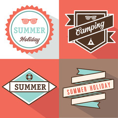 banner label summer design