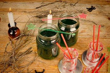 Scarry green Halloween drink