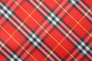 Plaid background material