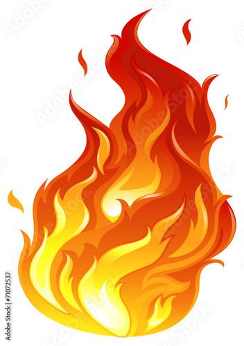 A big fire