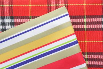 Stripes and plaid textiles