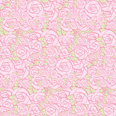 Seamless pattern of decorative flowers