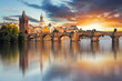Leinwanddruck Bild - Prague - Charles bridge, Czech Republic