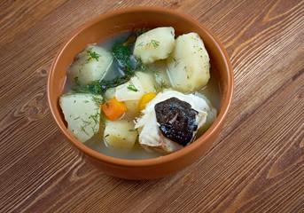 stew catfish with potato