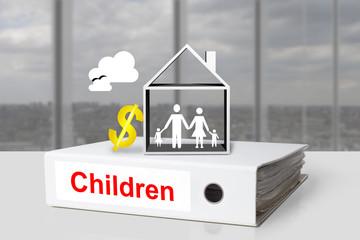 office binder children family dollar symbol