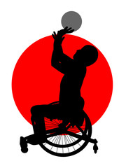 車椅子バスケット
