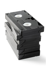 Stack of VHS Cassetes