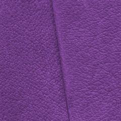 violet leather texture closeup, seam