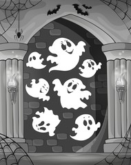 Black and white alcove and ghosts 1