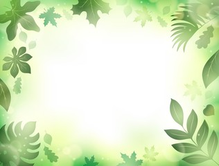 Leaves theme background 2