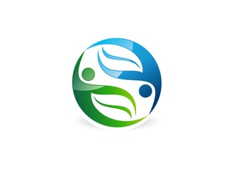 people,partner,logo,wellness,ecology,nature,balance,health,bio