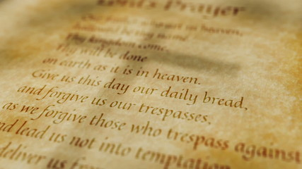 Religious Christian Text Lords Prayer