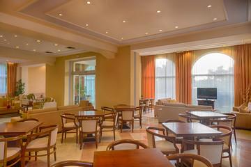 Lounge area of a hotel, club, company lobby