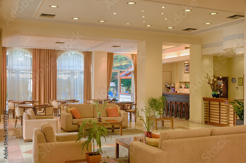 Lounge area of a hotel, club, company lobby